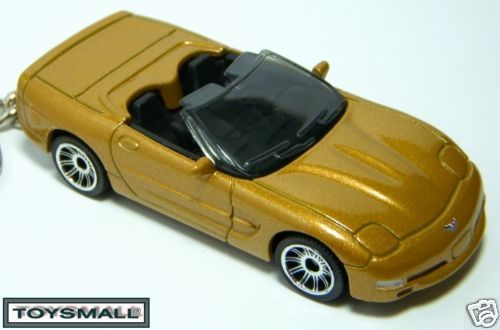 AZTEC GOLD CHEVY CORVETTE C5 CONVERTIBLE KEY CHAIN RING