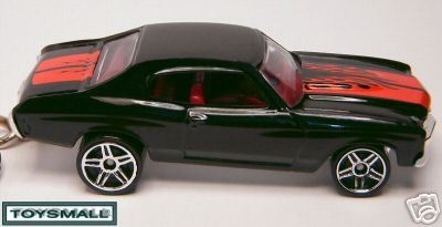 KEY CHAIN RING 70/71 BLACK RED CHEVROLET CHEVY CHEVELLE Bonanza