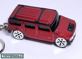 KEY CHAIN RING VICTORY RED BURGUNDY HUMMER H2 KEYRING ! - $24.95