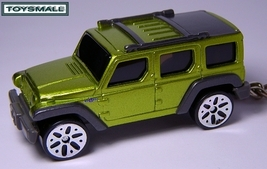 KEY CHAIN NEW JEEP WRANGLER RESCUE GREEN 4X4 ! RING FOB - $33.93