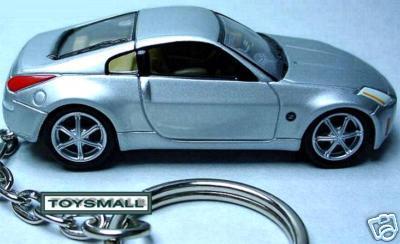 KEY CHAIN 2003~~2007~2008 SILVER NISSAN 350Z Z FAIRLADY Bonanza