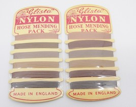 Vintage 2 Glista Nylon Hose Mending Pack Thread on Card Sealed Made in E... - $18.80