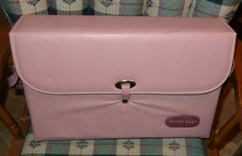 Vintage 90's Mary Kay Pink Make-up Sales Demo Consultant Case Large Rectangular - $28.22