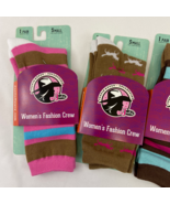Justin Boots Gypsy Collection Womens Fashion Crew Small Socks Three Pair... - $18.80