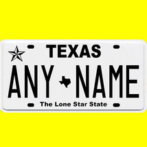 1/43-1/5 scale custom license plate set any brand RC/model car - Texas tags - $11.00