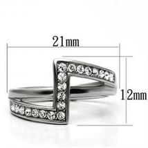 Never Fades Stainless Steel Vertical Design Austrian Crystal Ring - SIZE 7, 8, 9 image 3