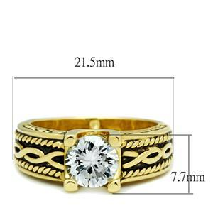 IP Gold 2.30 Carat Antique Design Cubic Zirconia Engagement Ring - SIZE 5 - 10 image 3