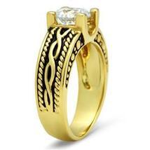 IP Gold 2.30 Carat Antique Design Cubic Zirconia Engagement Ring - SIZE 5 - 10 image 4