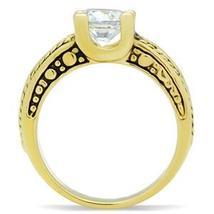 IP Gold 2.30 Carat Antique Design Cubic Zirconia Engagement Ring - SIZE 5 - 10 image 5