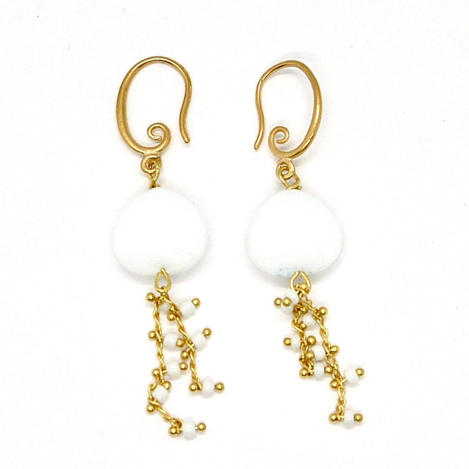 EARRINGS ANTICA MURRINA VENEZIA WITH MURANO GLASS WHITE DROP OR570A02
