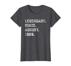 Brother Shirts - Legendary Since August 1989 29th Years Old Birthday Shirt Wowen - $19.95+
