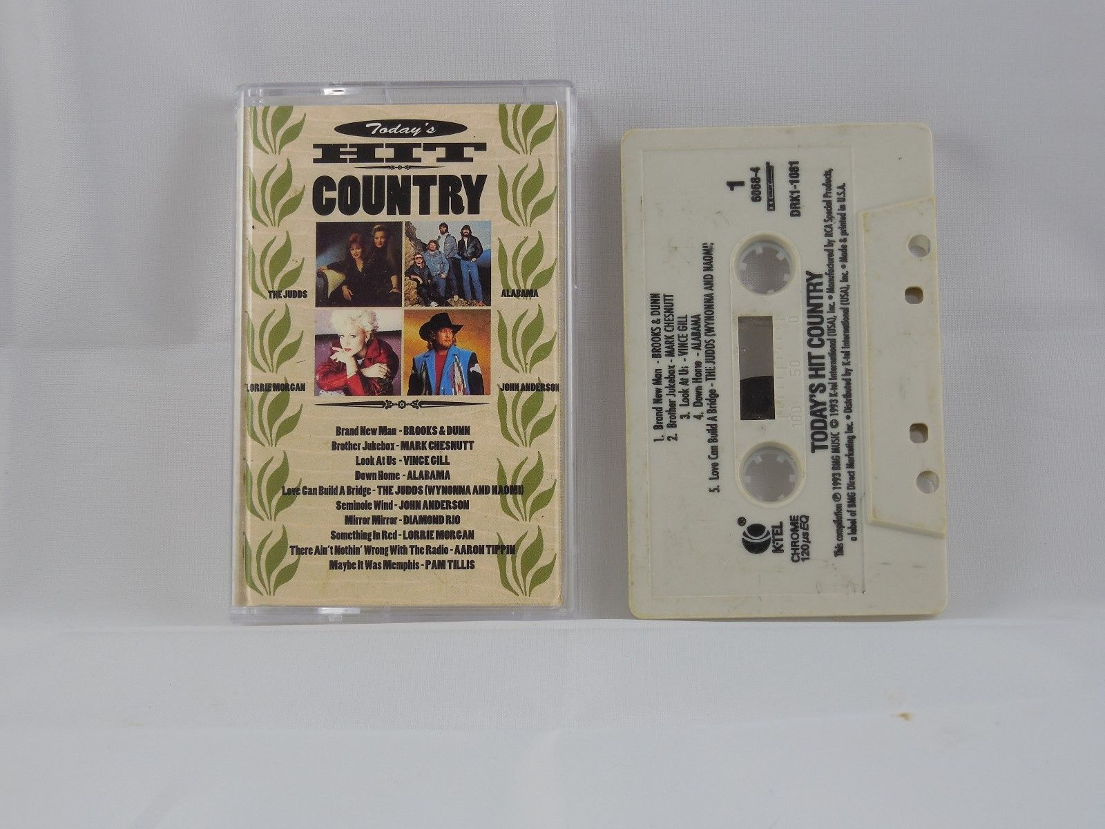TODAY'S HIT COUNTRY - CASSETTE VARIOUS K-TEL