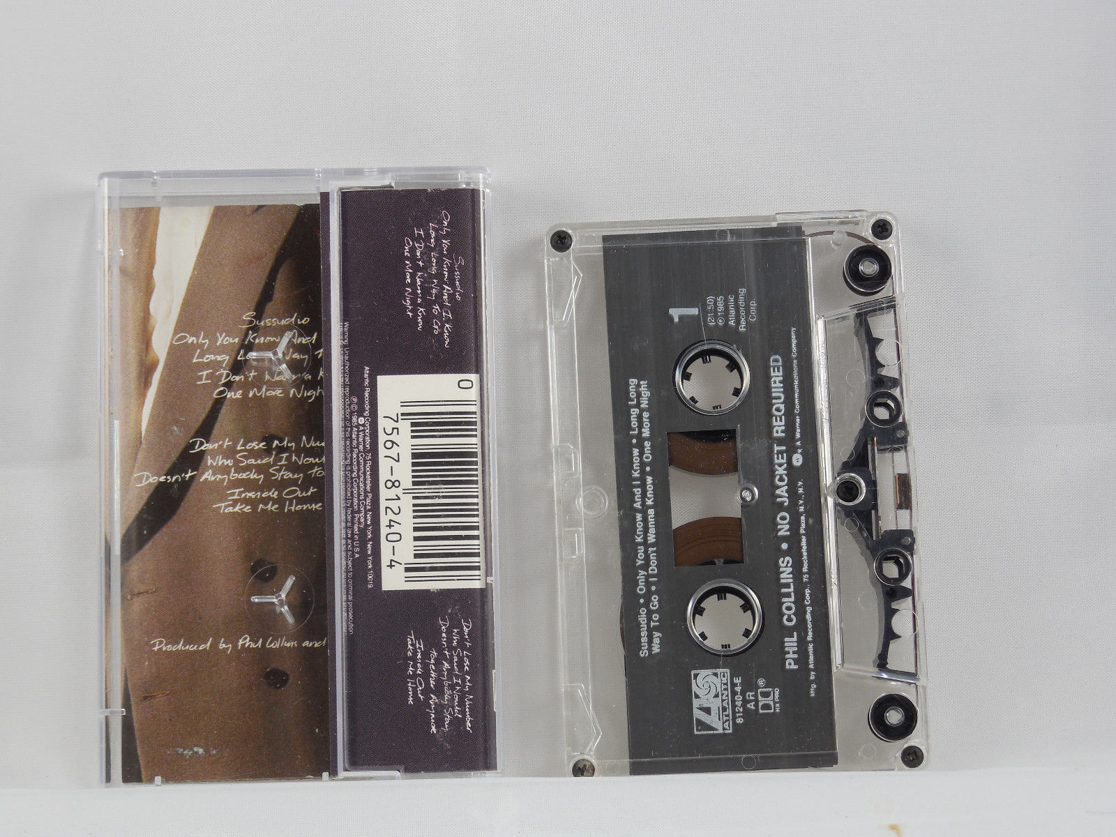 No Jacket Required by Phil Collins (Cassette, Atlantic (Label))