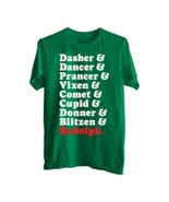 Men's Christmas Holiday Roll Call Graphic Tee New With Tags Size L - $5.99