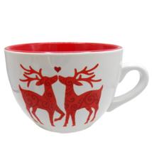 Signature Housewares Room Creative RED DEER Soup Mug Christmas Oversized... - $16.73