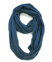 Modadorn New Arrivals Winter Solid Soft Touch Infinity Scarf Blue - $12.86