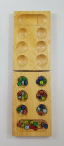 Primary image for Mancala Folding Wooden Game 43 pieces EUC