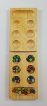 Mancala Folding Wooden Game 43 pieces EUC  - $18.69