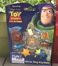 Disney's Toy Story Keychain woodys hat boot sheriff badge Alien stocking... - $20.39
