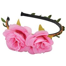3 Pcs Peony Pink Woven Cloth Hair Bands Headdress Hair Accessories