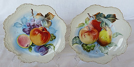 "Vintage Hand-painted Fruit Plate  8"" LEFTON China NE 6927 Gold Trim - $45.00"