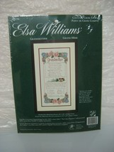 ELSA WILLIAMS, GRANDMOTHER counted cross stitch, brand new - $24.99
