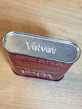 Vintage 50s Velvet Pipe & Cigarette Tobacco tin/packaging 1 5/8oz image 6