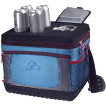 Cooler 30-Can Capacity Extreme Picnic Camping Tailgate Beverage Blue/Orange - $32.31