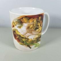 Coffee Mug Michelangelo The Creation of Adam Pattern White Ceramic - $13.85