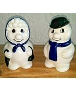 WADE  THE CHRISTMAS  SNOW FAMILY Man Woman 1994 Snowman 1995 Snowwoman - $24.74