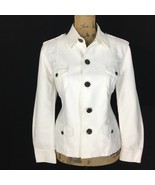 Ralph Lauren Med M White Safari Jacket Dark Button 4 Pocket Black Label ... - $39.95