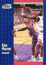 Karl Malone ~ 1991-92 Fleer #201 ~ Jazz - $0.05