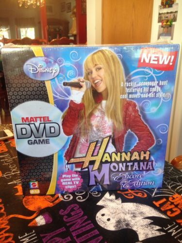 Disney Hannah Montana Encore Edition Mattel DVD Game Real TV Clips New Sealed