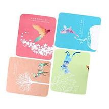 4 Pieces Microfiber Animals Glasses Cleaning Cloth Eyeglass Wiping Cloth... - $17.34