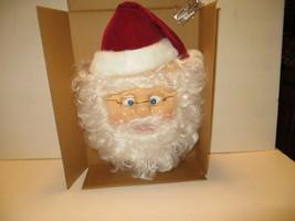 Rare Avon Holiday Greetings Talking Santa Wall/Door Décor w/Display Easel - $29.69