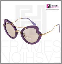 MIU MIU SCENIQUE Butterfly 11R Lilac Translucent Violet Gold Sunglasses MU11RS image 7