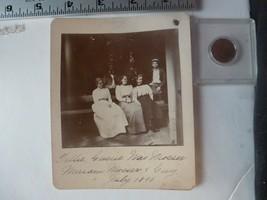 Cabinet Photo-Tillie Gussie Evelyn & Guy Mrs Mosser #12 Allentown PA 1898 - $33.78