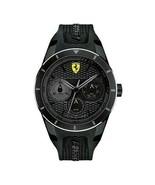 Scuderia Ferrari Black Dial Analog Sport Men`s Watch New With Box - $246.49