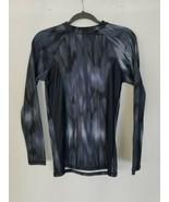 Lululemon women 6 gray mock neck long sleeve compression shirt athletic ... - $44.55