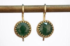 Agate emerald earrings,dangle earrings,gold earrings,bridal earrings - $52.00+