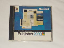 Microsoft Publisher 2000 PC Windows WITH Serial - $10.00