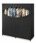 Black Fabric Portable Closet Wardrobe Clothes Storage Garment Rack Seaso... - $74.15