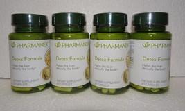 Four Pack: Nu skin Nuskin Pharmanex Detox Formula 60 capsules SEALED x4 - $120.00
