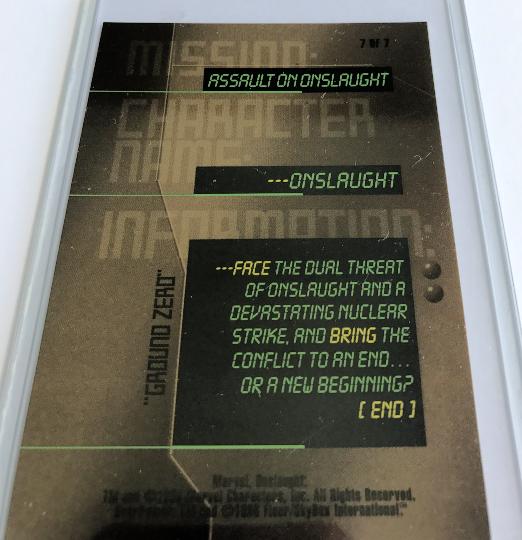 Marvel Mission Assaulton Onslaught Trading Card