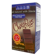 Keto chocolate: 5 ChocoRite Milk Chocolate Crisp Bars low carb (2 carbs) - $23.76