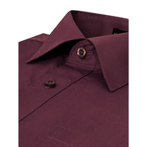 NEW Omega Italy Men's Dress Shirt Long Sleeve Solid Color Regular Fit 10 Colors image 10