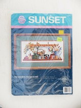 Sunset Treasures From Home Counted Cross Stitch Kit 13579 Antiques Country - $19.99