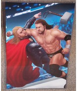 Triple H vs Thor Glossy Art Print 11 x 17 In Hard Plastic Sleeve - $24.99