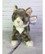Aurora Flopsies 16368 Tabb Cat Gray White Plush Stuffed Toy Animal Doll ... - $63.10