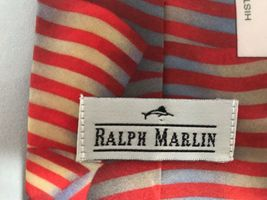 Ralph Marlin History of American Flags Patriotic 4th of July Neck Tie 1998 USA image 3
